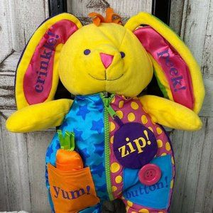Carters Teach Me to Dress Bunny Rabbit Plush 14""